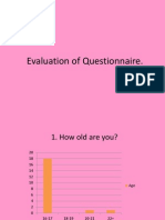 Evaluation of Questionnaire