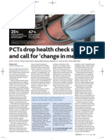 PCTs analysis