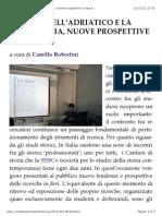 Le città dell'Adriatico e la loro storia, nuove prospettive di ricerca «