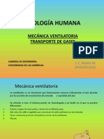 Clase 9.2 Mecnica Ventilatoria y Transporte de Gases Fisiologa Humana Enf UDLA via Del Mar 2011
