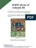The A.E.I.O.U-device of Frederick III