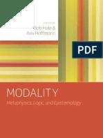 Bob Hale, Aviv Hoffmann-Modality Metaphysics, Logic, And Epistemology(2010)