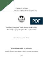 Bruno M. B. Ganhão - tese mestrado - Contributo para a compreensão duma patologia incompreendida - Fibromialgia, Psicanálise