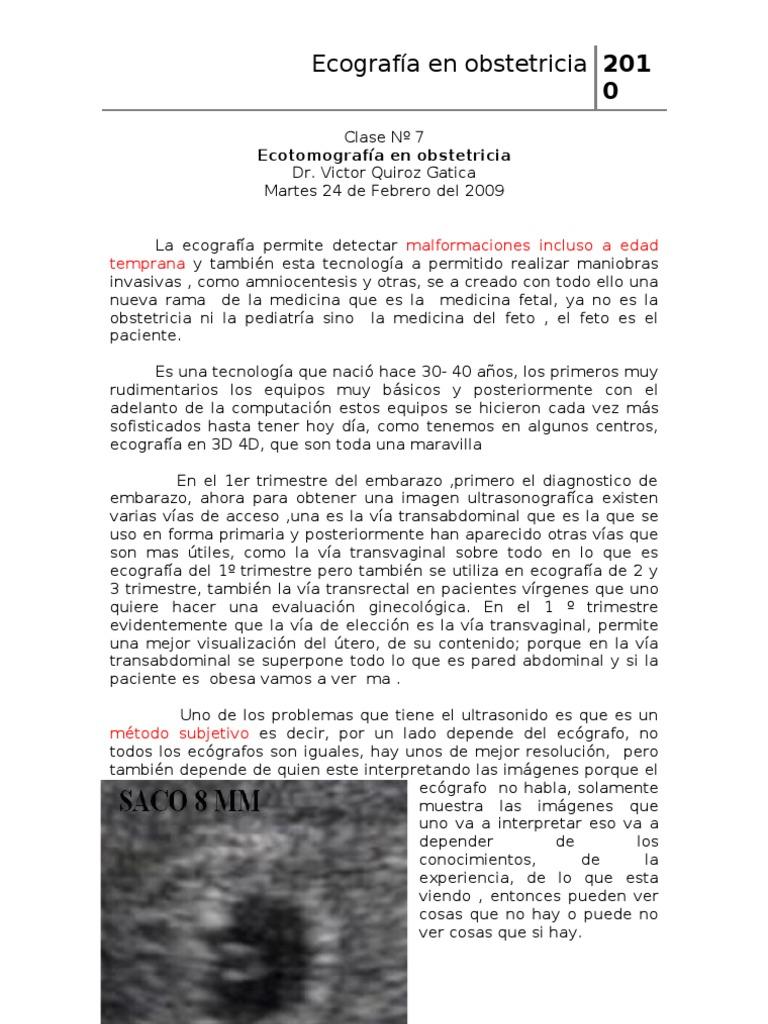 07 - Ecotomografia en Obstetricia