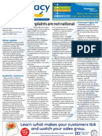 Pharmacy Daily for Mon 12 Nov 2012 - National complaints, Saizen, Antibiotic resistance, Food targets and much more...