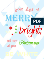 Merry and Bright Posters
