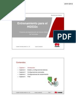 Presentacion de Entrenamiento Para HG532e | Protocolos de Internet