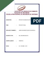 Informe Final - James Quiroz