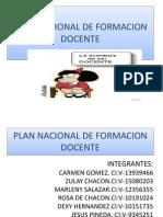 Plan Nacional de Formacion