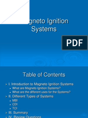 Magneto Ignition Systems | Ignition System | Electrical Engineering