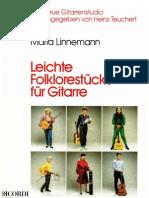 LINNEMANN Maria - Leichte Folklorestucke Fur Gitarre (Guitar - Chitarra)