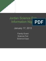scifair info night - general presentation