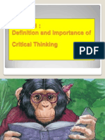 Introduction to Critical Thinking 2003 Version
