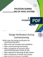 HVAC Design Verfication During Commisisoning