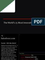 top 25 innovating companies