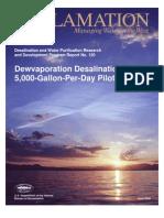 Dewvaporation Desalination