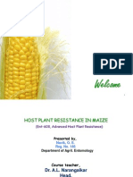 Host plant resistance in maize