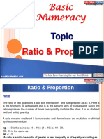 Basic Numeracy Ratio Proportion