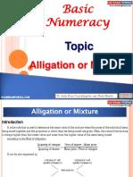 Basic Numeracy Alligation Mixture