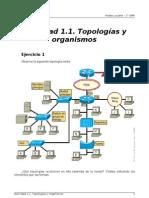 RL - Actividad 1.1 - Topologias y Organismos