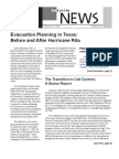 Evacuation Planning in Texas Before and After Hurricane Rita