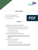 Curso Oratoria - Programa