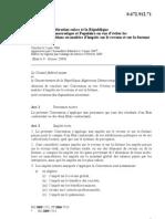 DTC agreement between Algeria and Switzerland