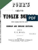 Spohrs Grand Violin School Pt. A