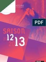 Saison artistique 2012-2013 du Conservatoire