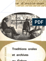 Deschamps, H. J. Traditions Orales Et Archives Au Gabon. Vol. 6. Berger-Levrault, 1962.