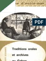Deschamps, H. J. Traditions Orales Et Archives Au Gabon. Vol. 6. Berger-Levrault, 1962.