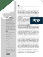 Ecléctica. Revista de Estudios Culturales - 1 (2011) - Crisis