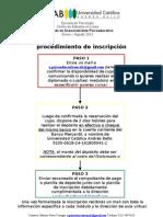 Procedimiento de Inscrpción DAPE 2013