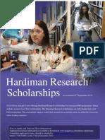 Hardiman Scholarship Poster