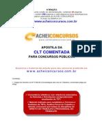Apostila da CLT COMENTADA para Concursos Públicos