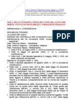 Isola Delle Femmine Corte Dei Conti Bilancio 2008 Debiti Ato Patto Stabilita Infrazioni Stradali