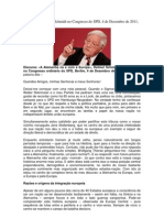 Discurso de Helmut Schmidt No Congresso Do SPD