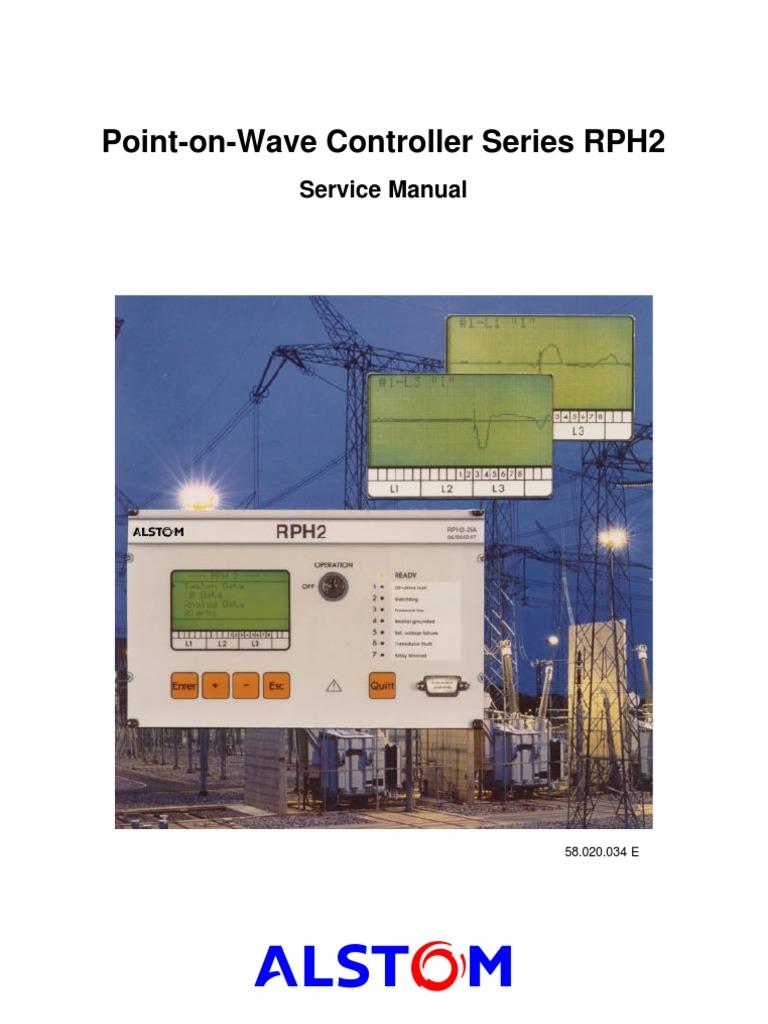 alstom p c pow relay rph2 o m manual switch capacitor rh scribd com alstom relay manual pdf alstom mvaj relay manual