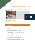 Sobremesa Rápida de Morango com Creme