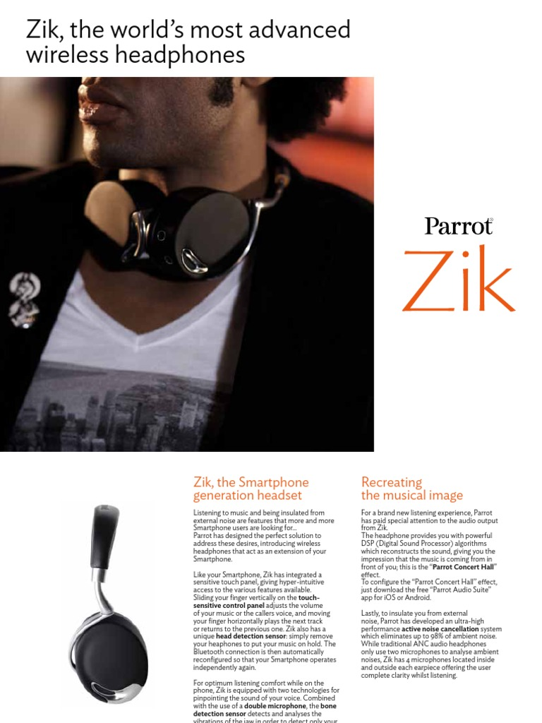 68734fc61a0 Zik, the world's most advanced wireless headphones | Headphones | Microphone