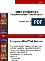 Custom Dictionaries in Computer-Aided Text Analysis