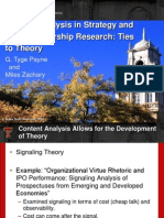 Content Analysis in Strategy and Entrepreneurship Research