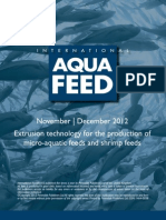 Extrusion technology for the production of micro-aquatic feeds and shrimp feeds
