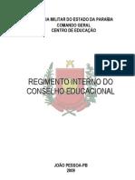 Regimento Do Conselho Educacional 2009 Novo
