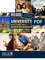 Regis University MAE Spring 2013 Course Offerings
