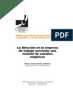 El directivo en las cooperativas de trabajadores