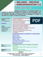 Formation Continue Agitation Mélange Broyage Dispersion Homogénéisation 2013