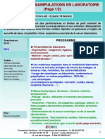 Formation Continue Initiation Manipulation Laboratoire 2013