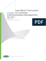 The Forrester Wave Document Output for Customer Communications Management Q3 2011