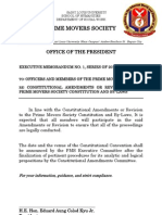 Executive Memorandum No. 1